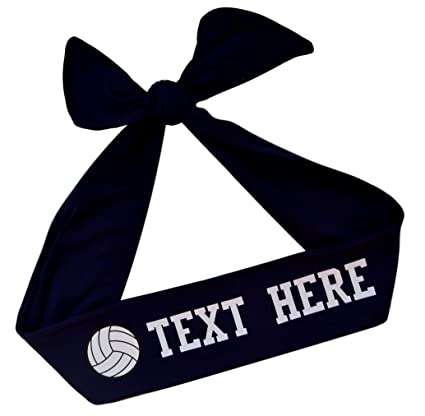 Funny Girl Designs Volleyball TIE BACK Moisture Wicking Headband  Personalized Your Way with VINYL TEXT and be6dac9216f