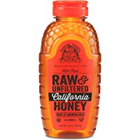 Nature Nate's 100% Pure Raw & Unfiltered California Honey; 16-oz. Squeeze Bottle; Certified Gluten Free & OU Kosher…