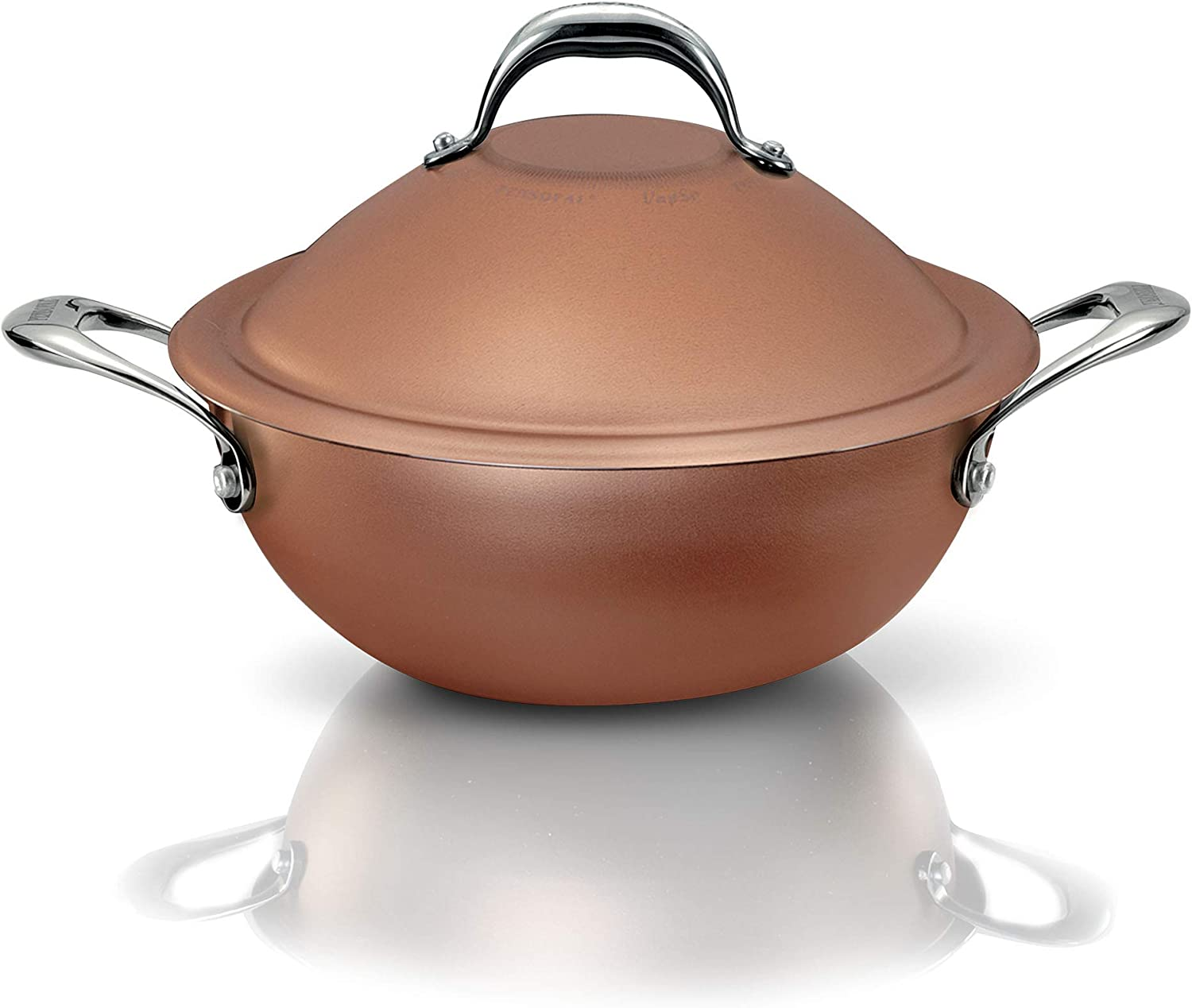 Pensofal PEN 6919 Non-Stick Eco-Friendly 9 Layer Professional Aluminum VapSi Wok With Patented Diamond Professional Coating For All Cook Tops Including Induction, 24 cm / 9.45 Inches