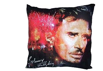 Johnny Hallyday   Coussin Johnny Hallyday Feux d'artifice: Amazon