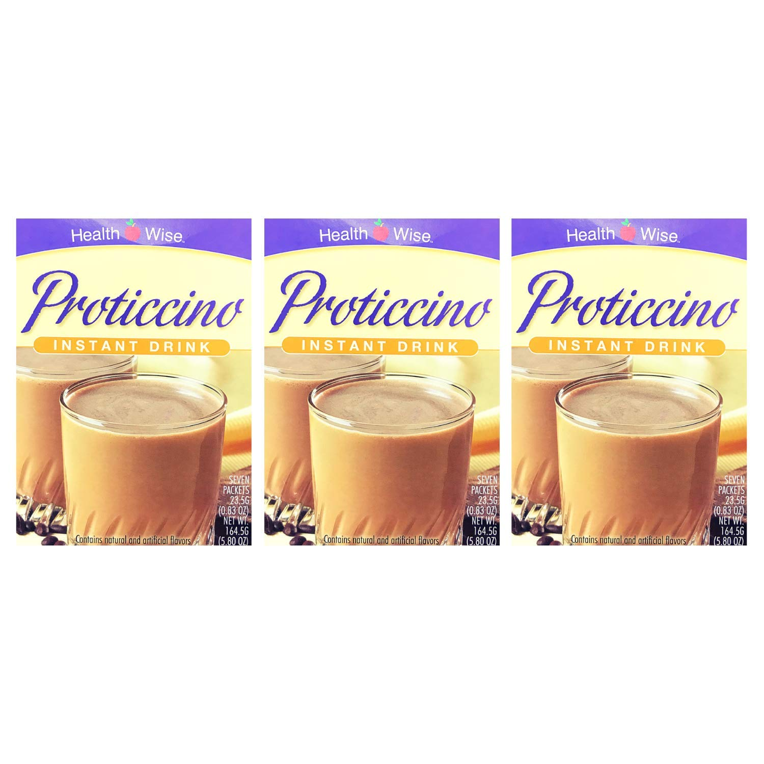 3 Box Value Pack ( 21 Servings) Healthwise - High Protein Diet Drink - Proticcino- Instant Weight Loss Hot or Cold Drink - 15g Protein - Low Sugar - Low Carb - Low Calorie