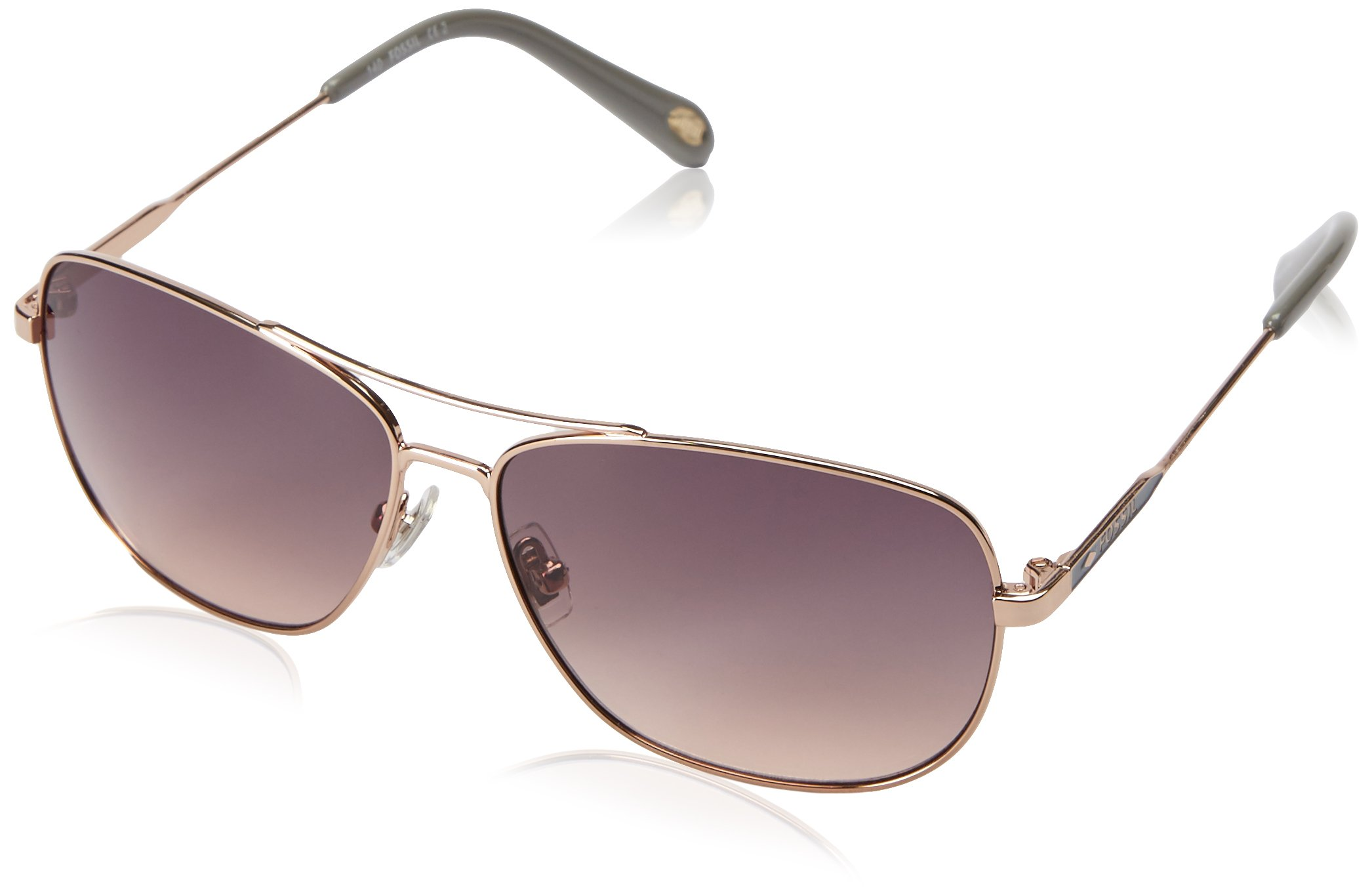 Fossil Fos3058s Square Sunglasses, Rose Gold/Smoke Tan, 58 mm by Fossil