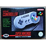 Original SNES Super Nintendo Controller / Control-Pad / Joypad / Gamepad / Controlpad (einzeln, geprüft, gereingt, PAL, deutsch, TOP-Zustand) [import allemand]