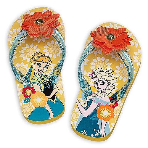 1d82033e568db Disney Store Anna and Elsa - Frozen Sole Mates Flip Flops for Girls