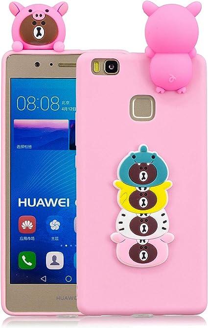 Funda para Huawei P9 Lite Silicona Dibujos 3D,QFUN Carcasa de TPU ...