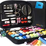 SEWING KIT Premium Repair Set - Complete Needle and Thread Kit for Sewing - Over 100 Supplies & 24-Color Threads…
