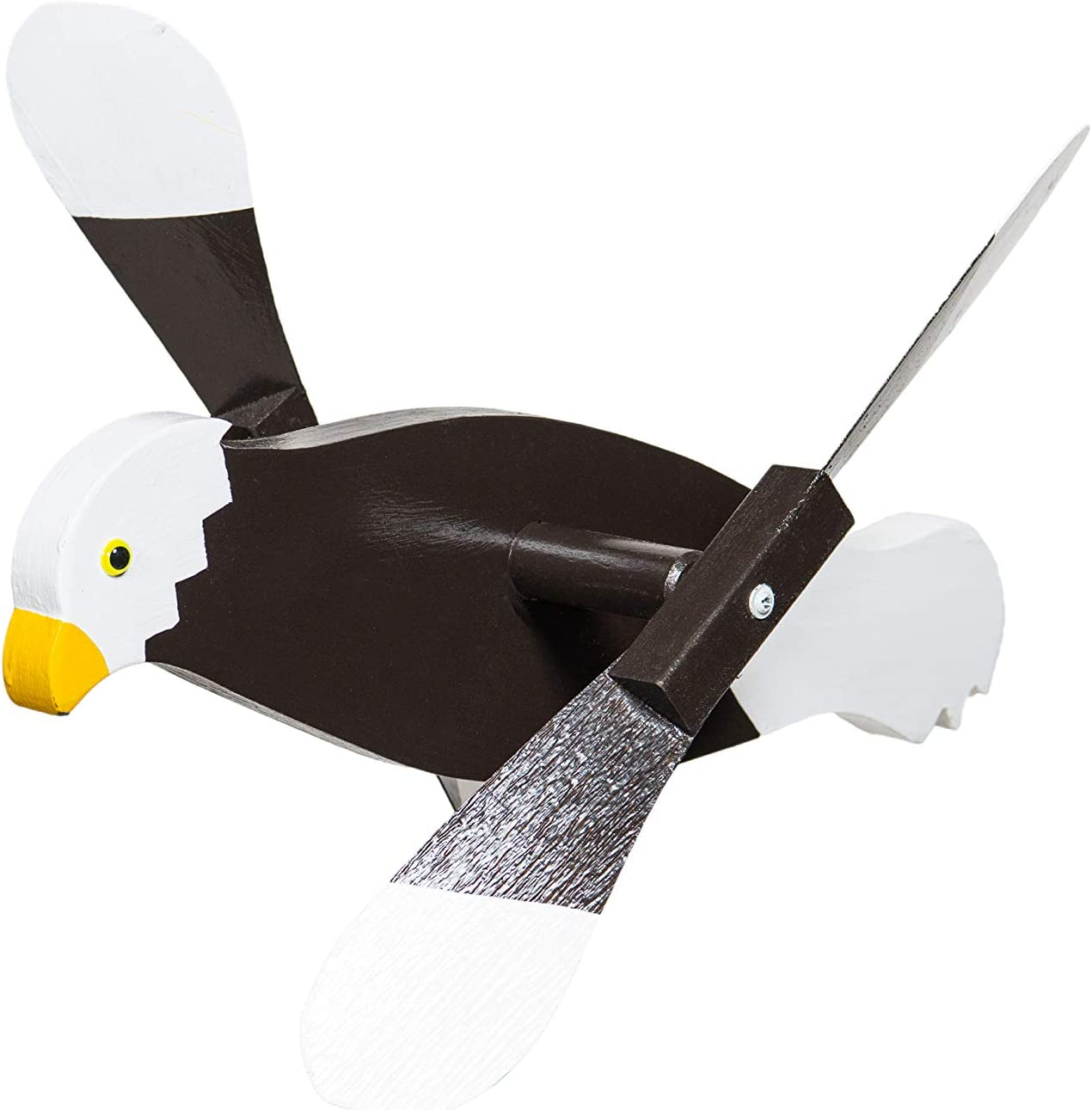 DutchCrafters Fun Whirligig Whirlybird Wind Spinner for Outdoors, Lawn, Garden, Yard Décor - Amish Made in USA (Bald Eagle)