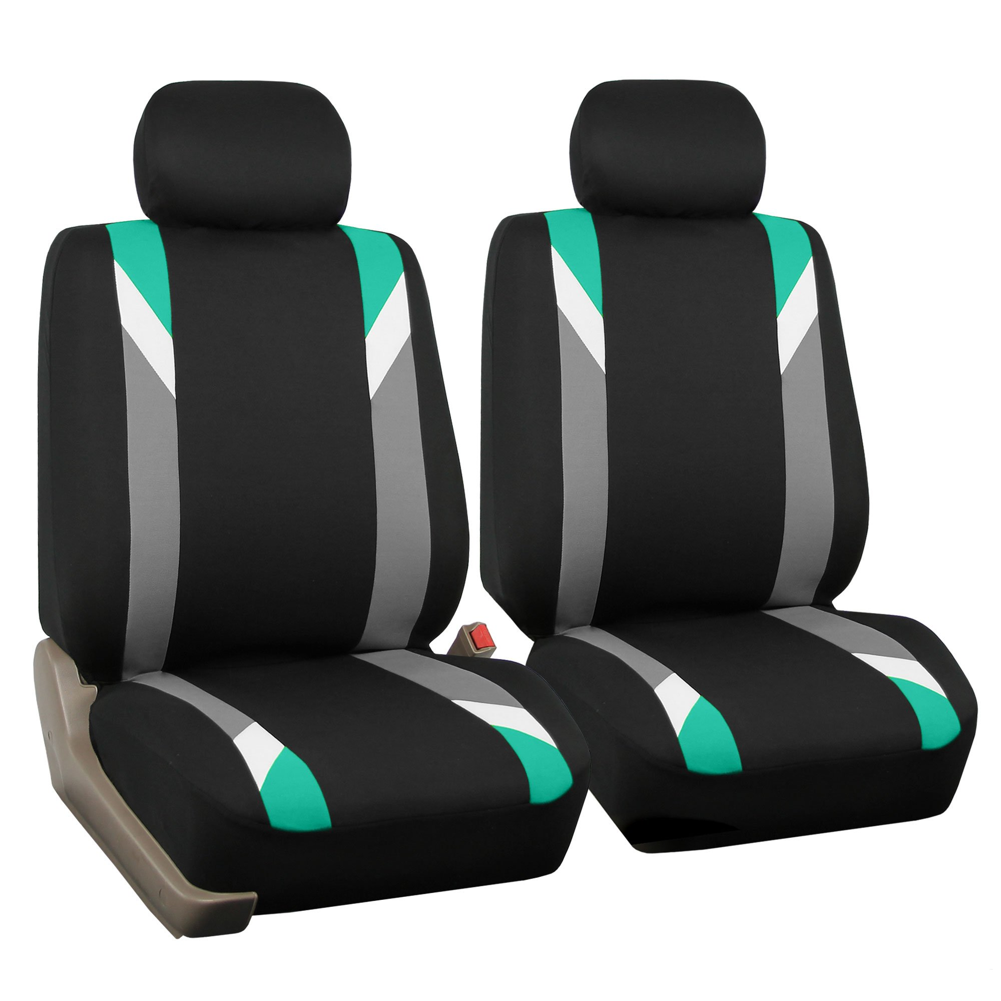 FH Group FB033MINT102 Modernistic Mint Bucket Seat Covers Set of 2 by FH Group