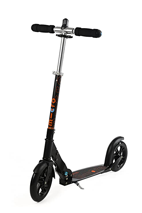 Micro Scooter Black Patinete con candado Integrado: Amazon ...