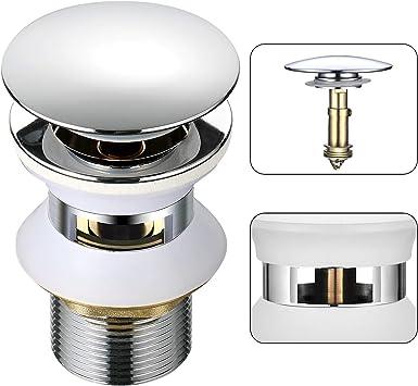 Ablaufventil POP UP Ablaufgarnitur mit überlauf für Waschtisch Waschbecken Chrom