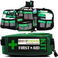Qnlly 165 STÜCKE Handliches Überlebens-Erste-Hilfe-Set Leere Notfall-Unfalltasche Medizinisches Set mit etikettierten Fächern für Zuhause, Büro, Camping, Arbeitsplatz, Auto und Reisen