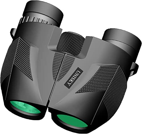 10X25 Powerful Binoculars for Kids Adults, Folding Compact Binocular Large Eyepieces Lens Zoom with Weak Light Night Vision Portable Lightweight 0.5lbs for Bird Watching Hunting Sports Match