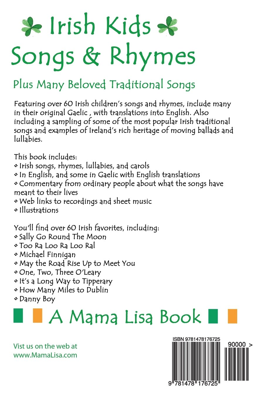 Traditional Irish Collection of Nursery Rhymes, Lullabies & Songs