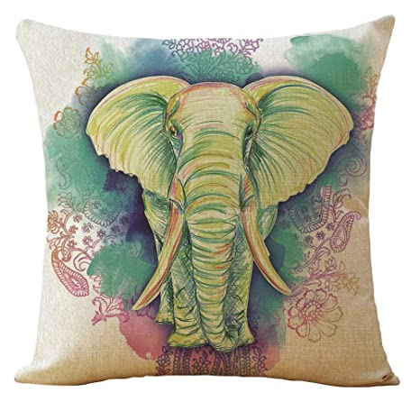 Vintage Retro Cotton Linen Throw Pillow Case Cushion Cover Car Sofa Home Decor