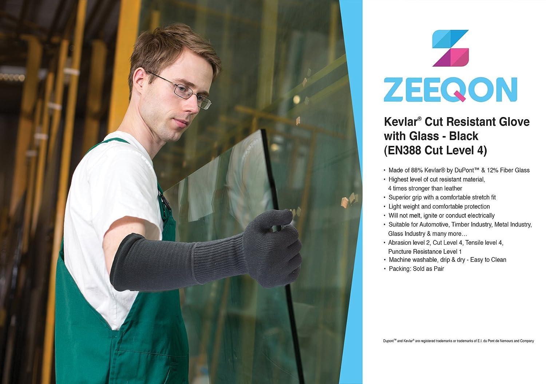 Cut Resistant Kevlar Glove Cut 04 Black