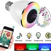 Bluetooth Light Bulb Speaker, Wireless RGB LED Light Bulbs, E27 Base Remote Control LED Smart Music Bulb for Bar Decoration, Bedroom, Backyard, Wedding, Restaurant, Home