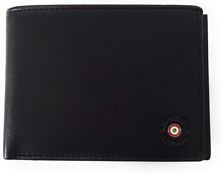 Aeronautica Militare Men wallet with RFID and ID window