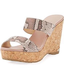 298a721b6f42 Amazon.com | JIMMY CHOO Parker Metallic Wedge Platform Sandals 40.5 ...