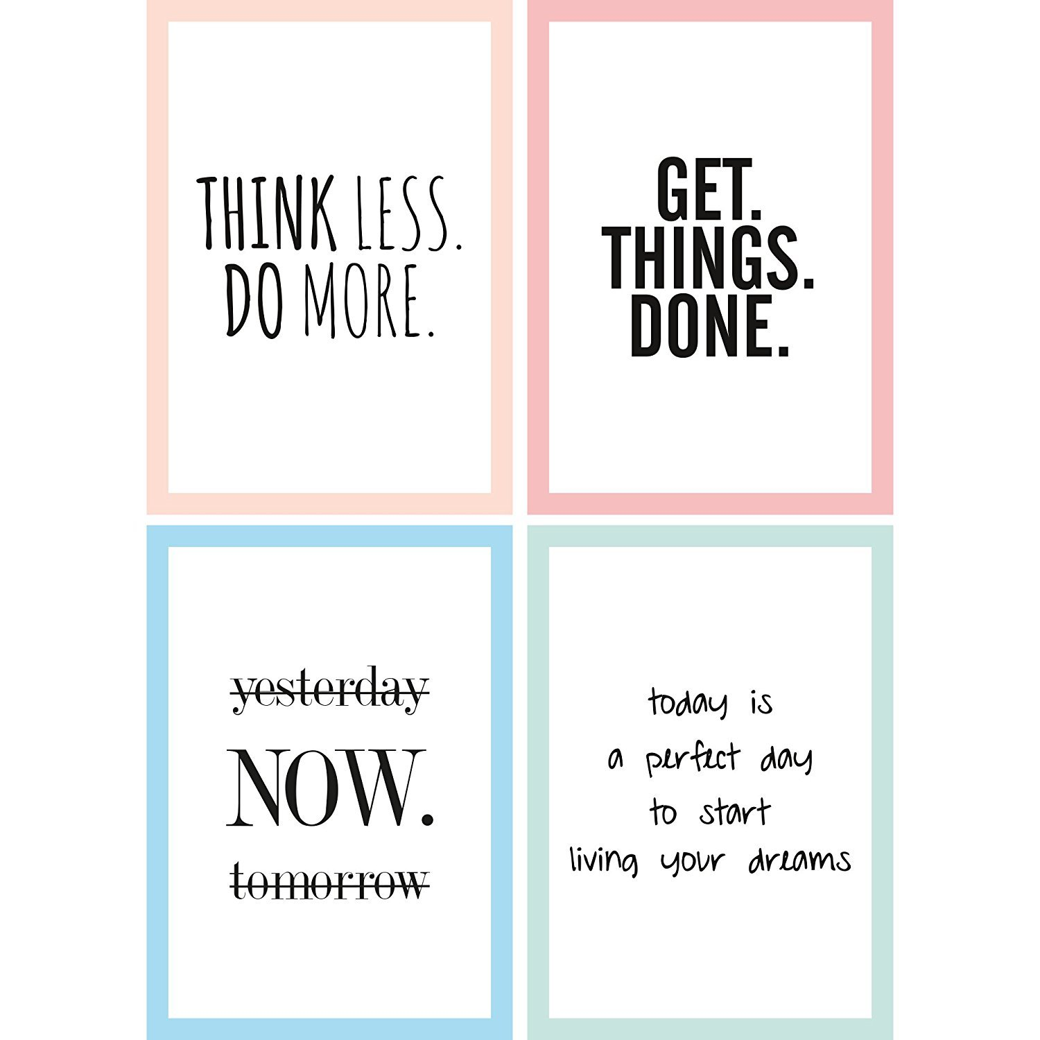 CUPCAKES & KISSES® 4er Motivation Poster