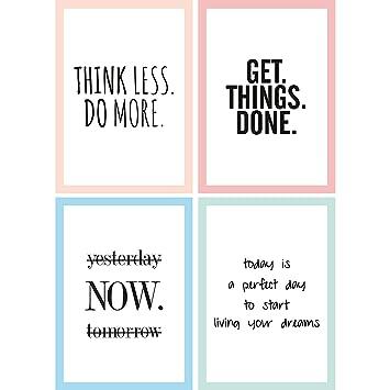 motivierende sprüche Amazon.de: Cupcakes & Kisses® 4er Motivation Poster Sparset I  motivierende sprüche