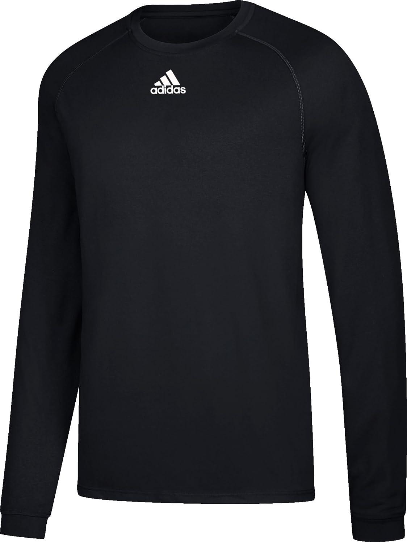 AdidasメンズClimalite杢長袖シャツ B01DNAZMMO Small ブラック ブラック Small