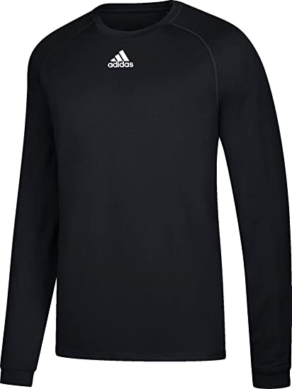 61a209d55 Adidas Climalite Mens Long Sleeve Training Tee XS Black