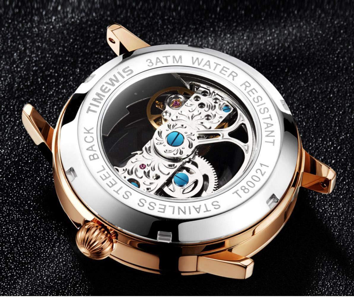Herrklockor affärsmode klocka automatisk mekanisk klocka L