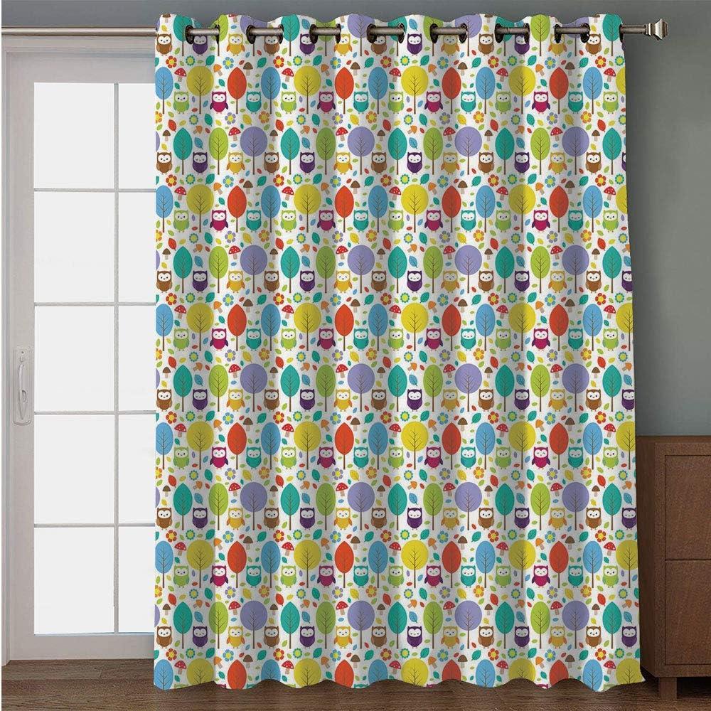iPrint cortina para puerta de patio, diseño geométrico, círculos ...