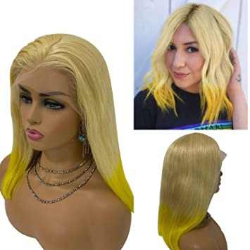 Ombre Lace Front Wigs Blonde Yellow Quality