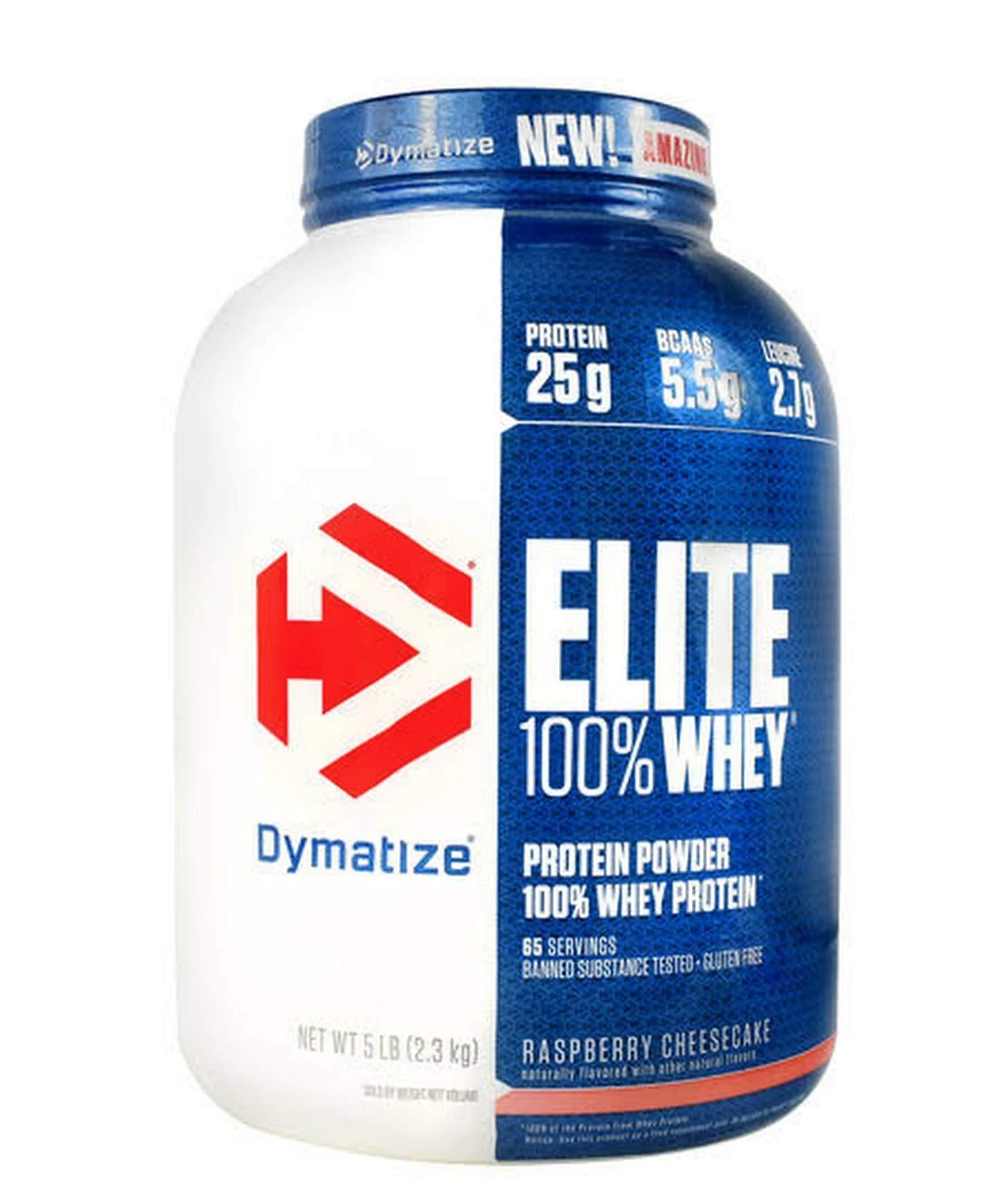 Dymatize Elite Whey Protein Powder, Raspberry Cheesecake, 5 Pound by Dymatize