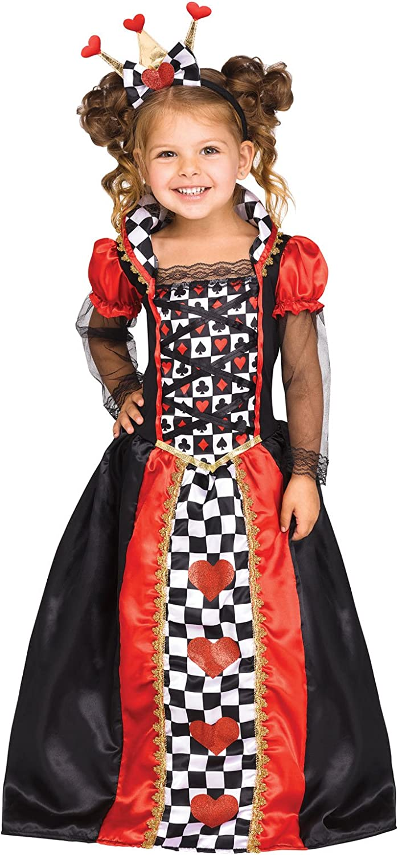 Alice in Wonderland Queen Girls Child Costume