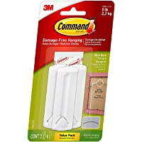 Command Wire-Back Hangers, Indoor Use, 3 Hangers, 6 Strips, Decorate Damage-Free - 1 Pack