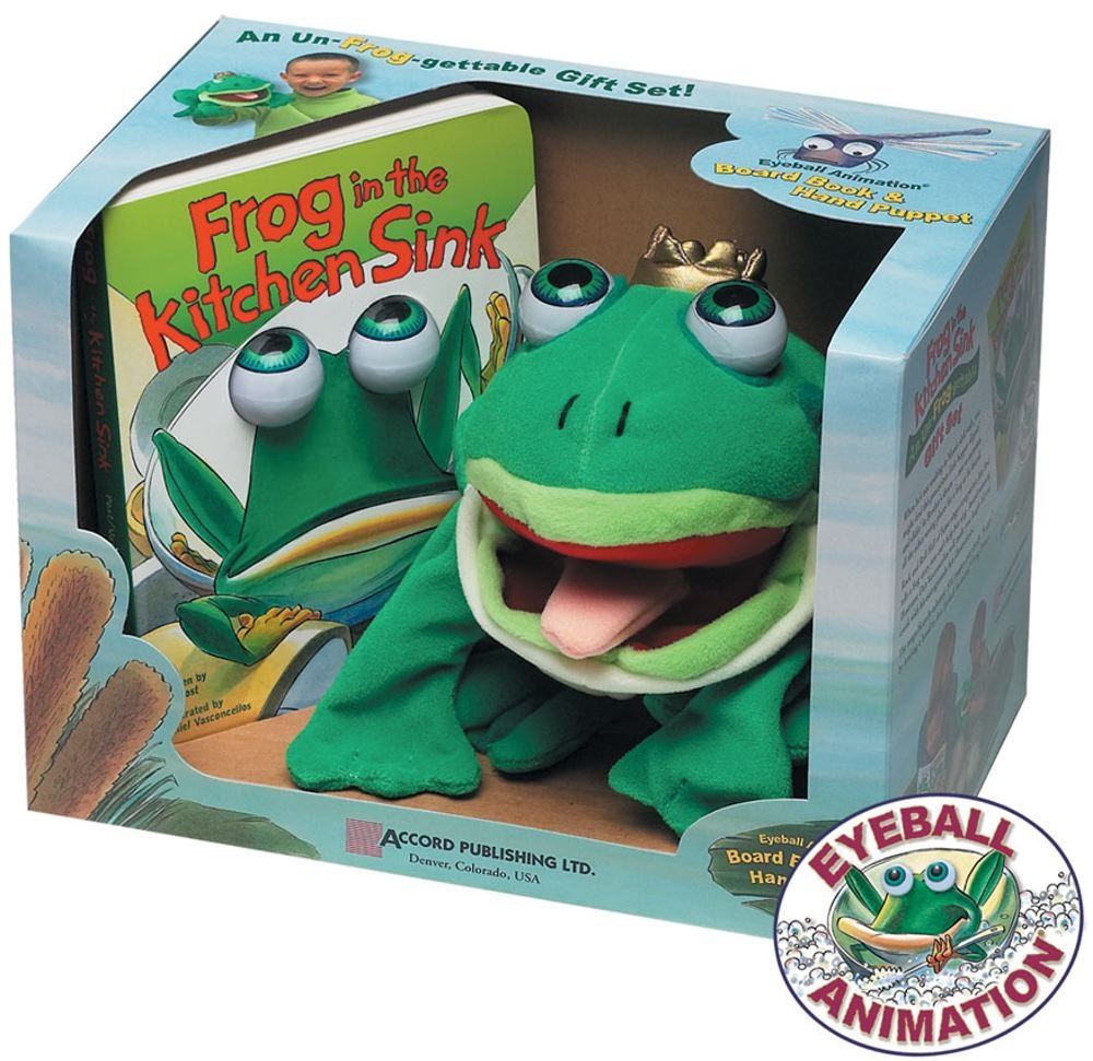 good Frog In The Kitchen Sink Song #4: Frog in the Kitchen Sink: Board Book u0026 Hand Puppet: Daniel Vasconsellos,  Jim Post: 9781579391690: Amazon.com: Books