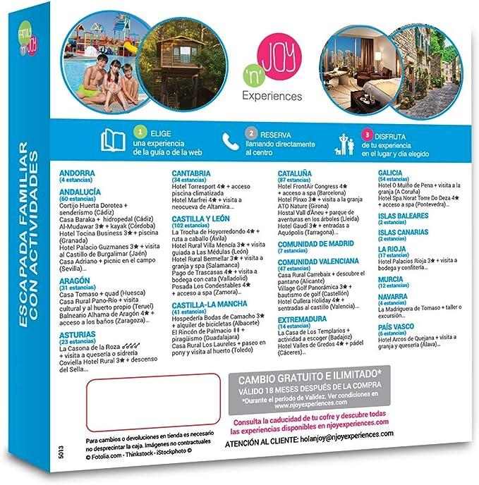 NJOY Experiences - Caja Regalo - ESTANCIA FAMILIAR CON ACTIVIDADES ...