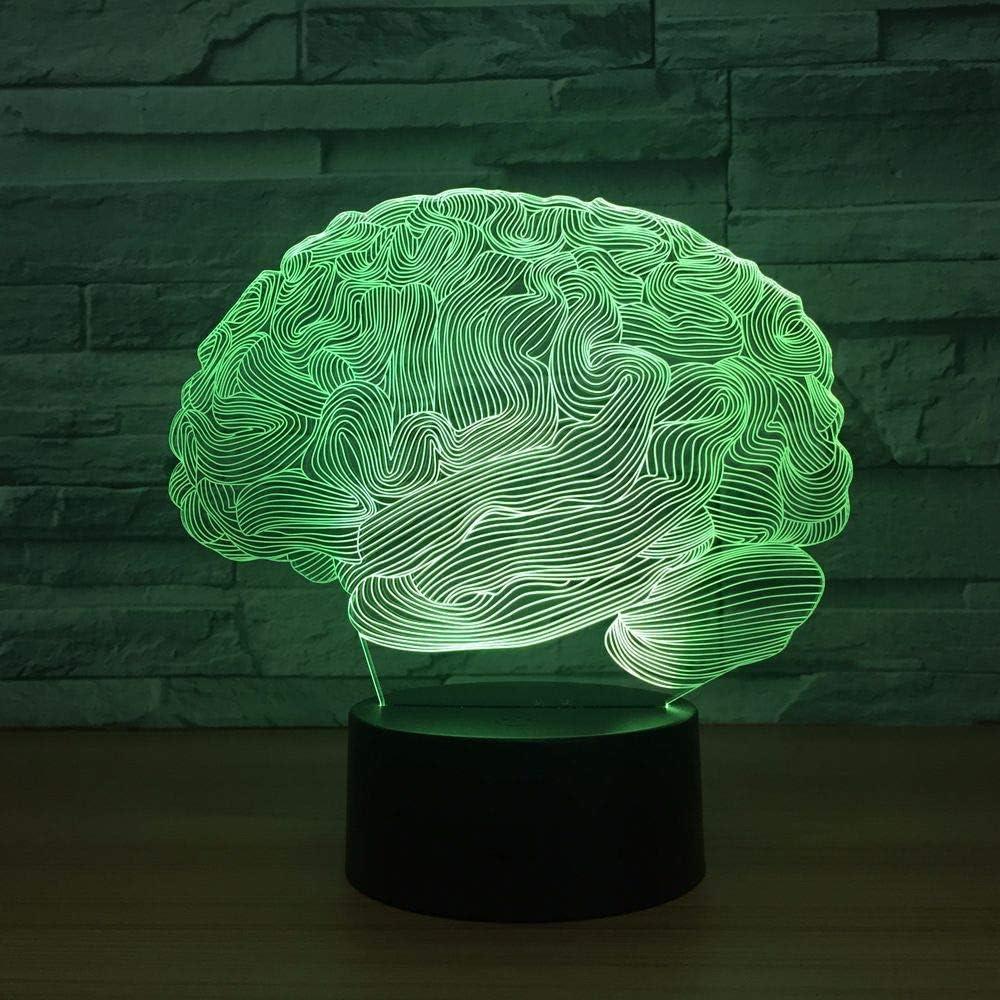 BFMBCHDJ Luz de novedad USB Brain Carebellum Lámpara de ilusión ...