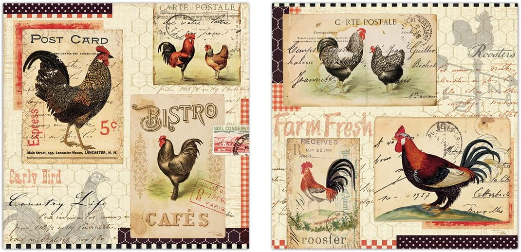 Poster Gift Vintage French Country Poultry Chicken Print