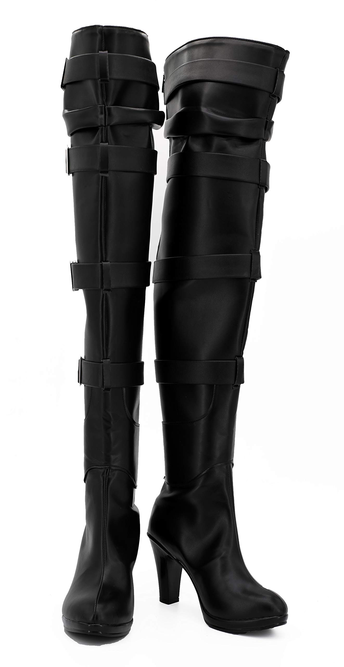 Game Cosplay Boots Knee High Leather