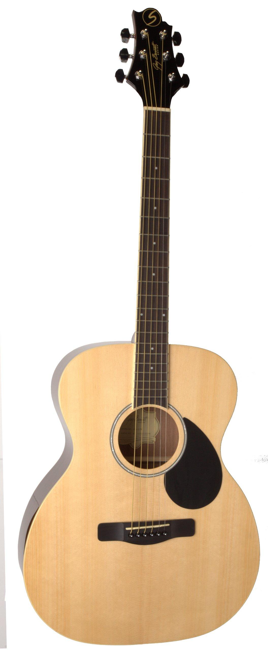 Samick Music Regency OM2 Orchestra Body Acoustic Guitar, Natural
