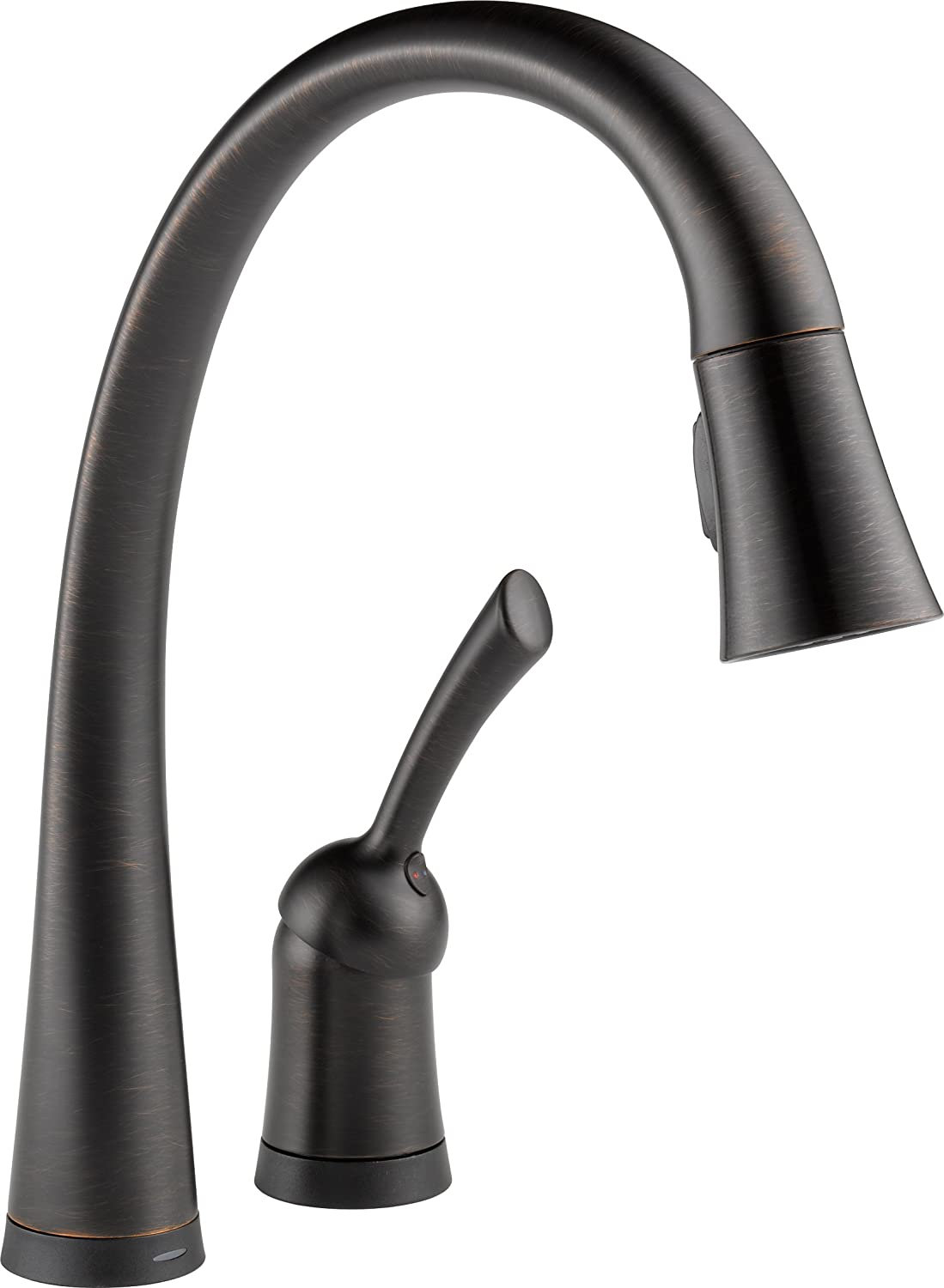 Delta TRBDST Pilar Single Handle PullDown Kitchen Faucet With - Delta touchless kitchen faucet