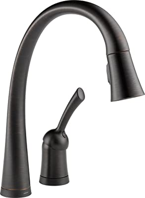 Delta 980T-RB-DST Pilar Single Handle Pull-Down Kitchen Faucet with Touch2O Technology, Venetian Bronze