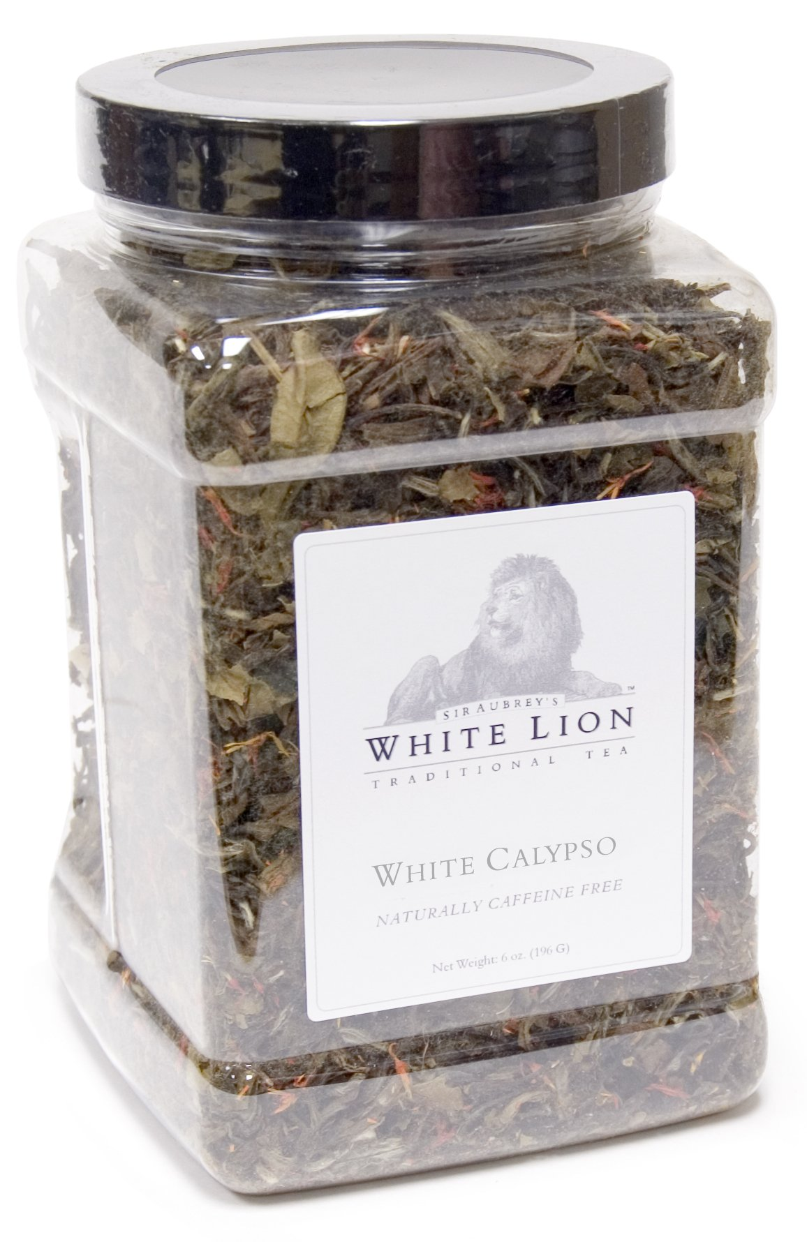 White Calypso Fine White Tea, Loose Tea Canister, White Lion Tea