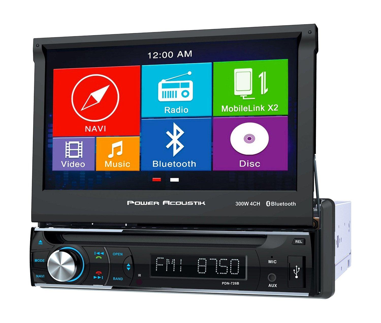 Power Acoustik 7 1DIN GPS Receiver W/ Bluetooth PDN 726B