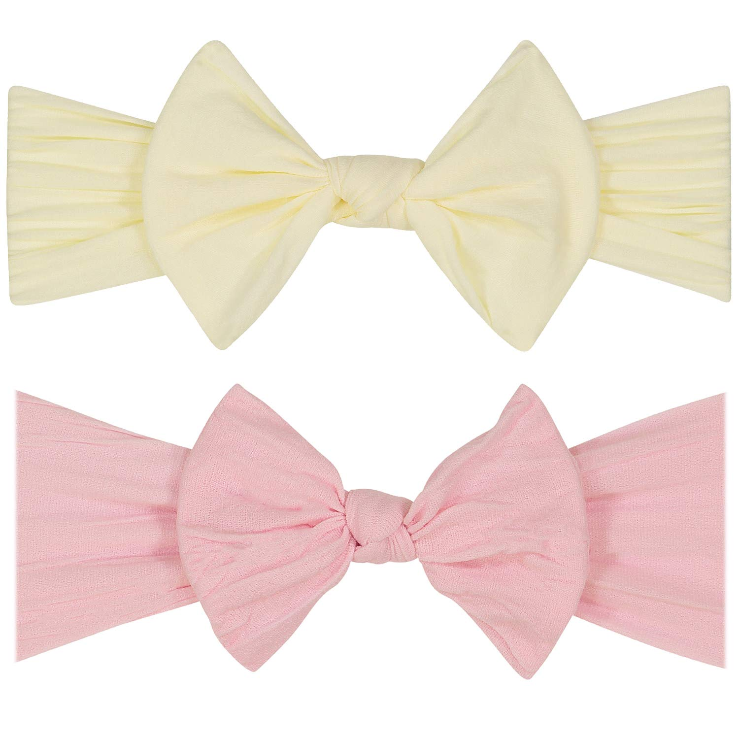 YOUR NEW FAVORITE BABY HEADBANDS - 2 PACK - Super Stretchy Knot Newborn & Baby Headbands