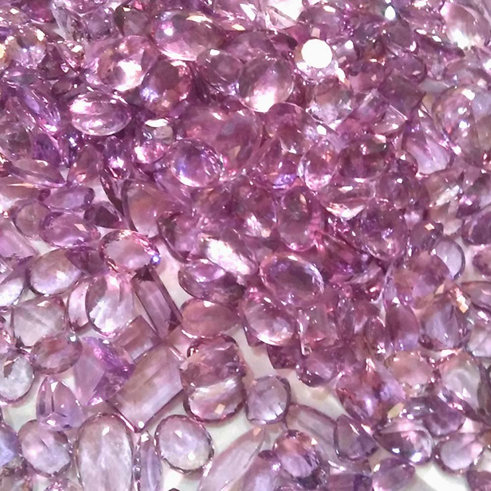 51Cts 100% Natural Finest Quality Amethyst Cut Purple Mix Shape Wholesale Lot