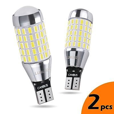 LUMENEX 921 LED Bulbs Backup Reverse Light CANBUS Error Free 87SMD Extremely Bright 912 W16W T15 906 for Car LED Reverse Lights 6000K Xenon White(Upgraded,Pack of 2): Automotive