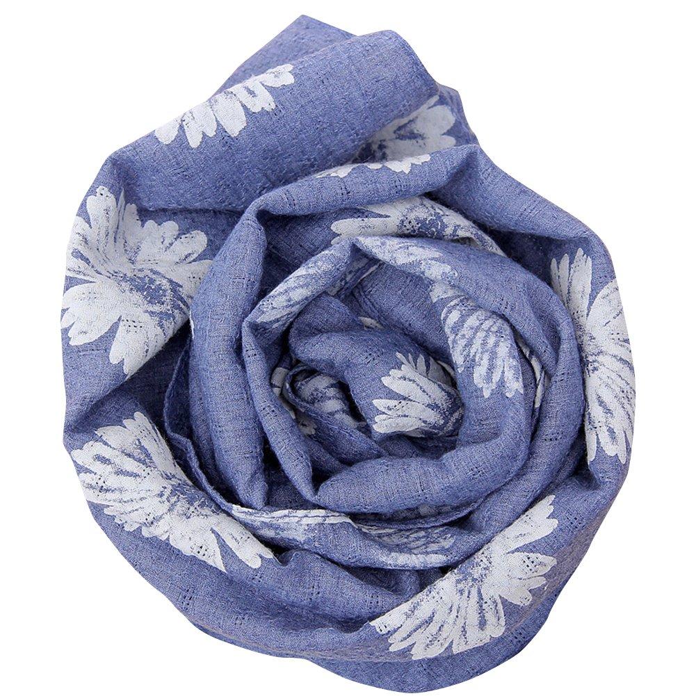 Shineweb Unisex Kids Fashion Print Warm Autumn Winter Soft Linen Scarf Shawl