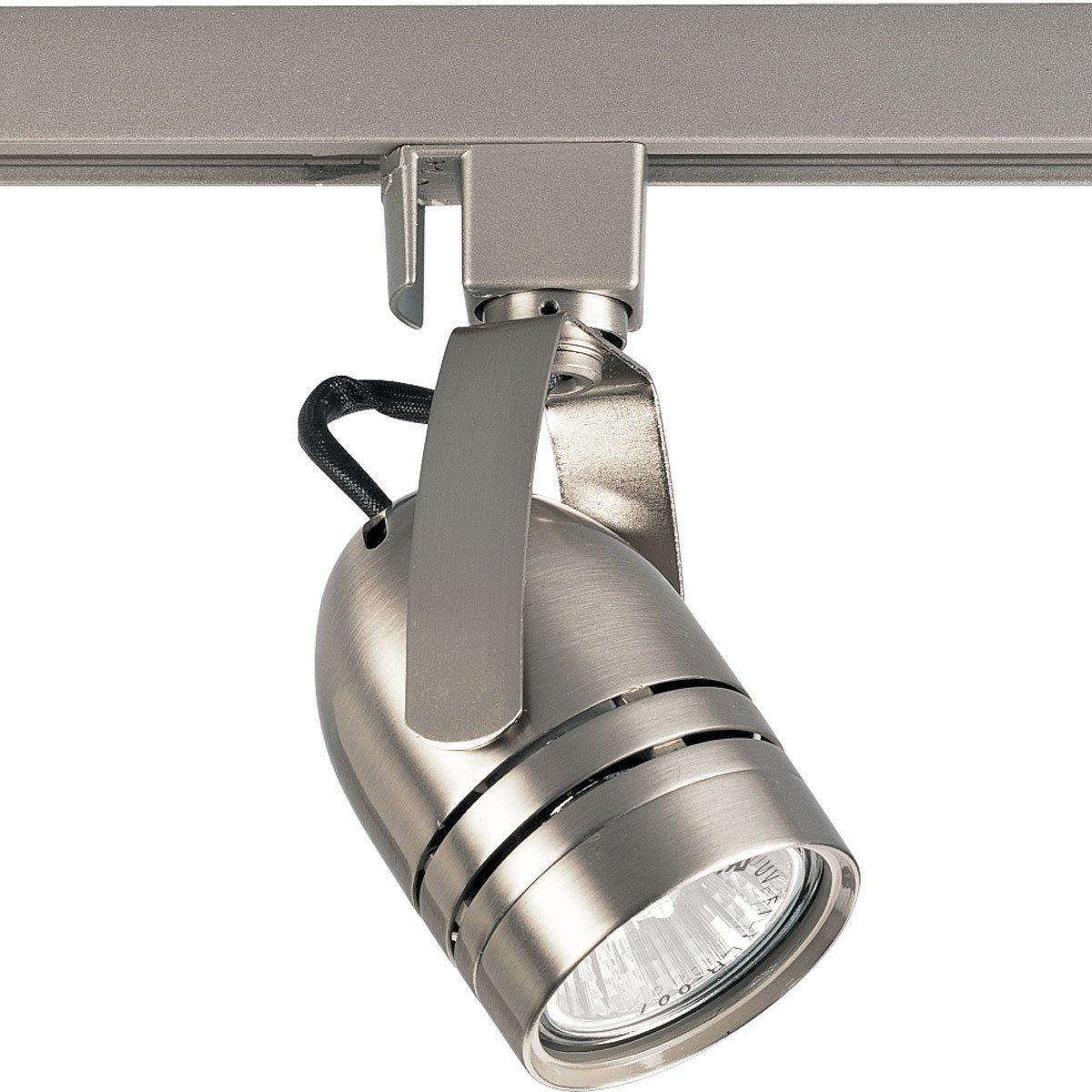 Progress Lighting P6112-09 120 Volt Line Voltage Slotted Back Cylinder Track Head, Brushed Nickel by Progress Lighting (Image #1)