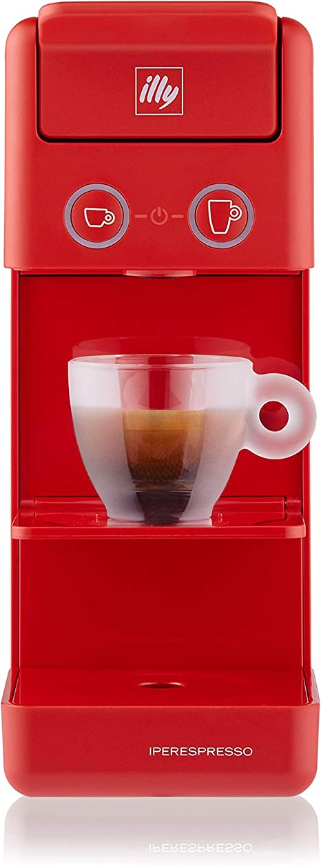 Illy Iperespresso Y3 3 Coffee Machine With Capsules Red Amazon De Kuche Haushalt