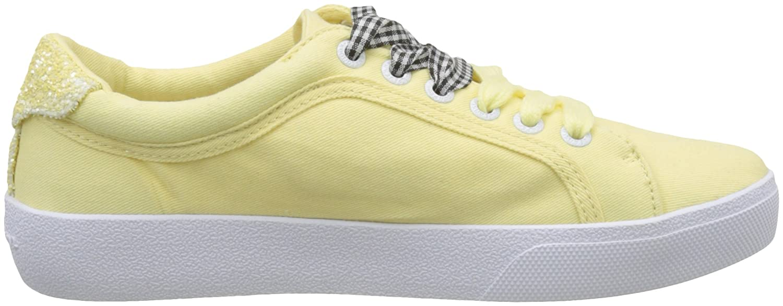 Pepe Jeans London Rene Skate, Zapatillas para Mujer, Amarillo (Sunrise), 38 EU