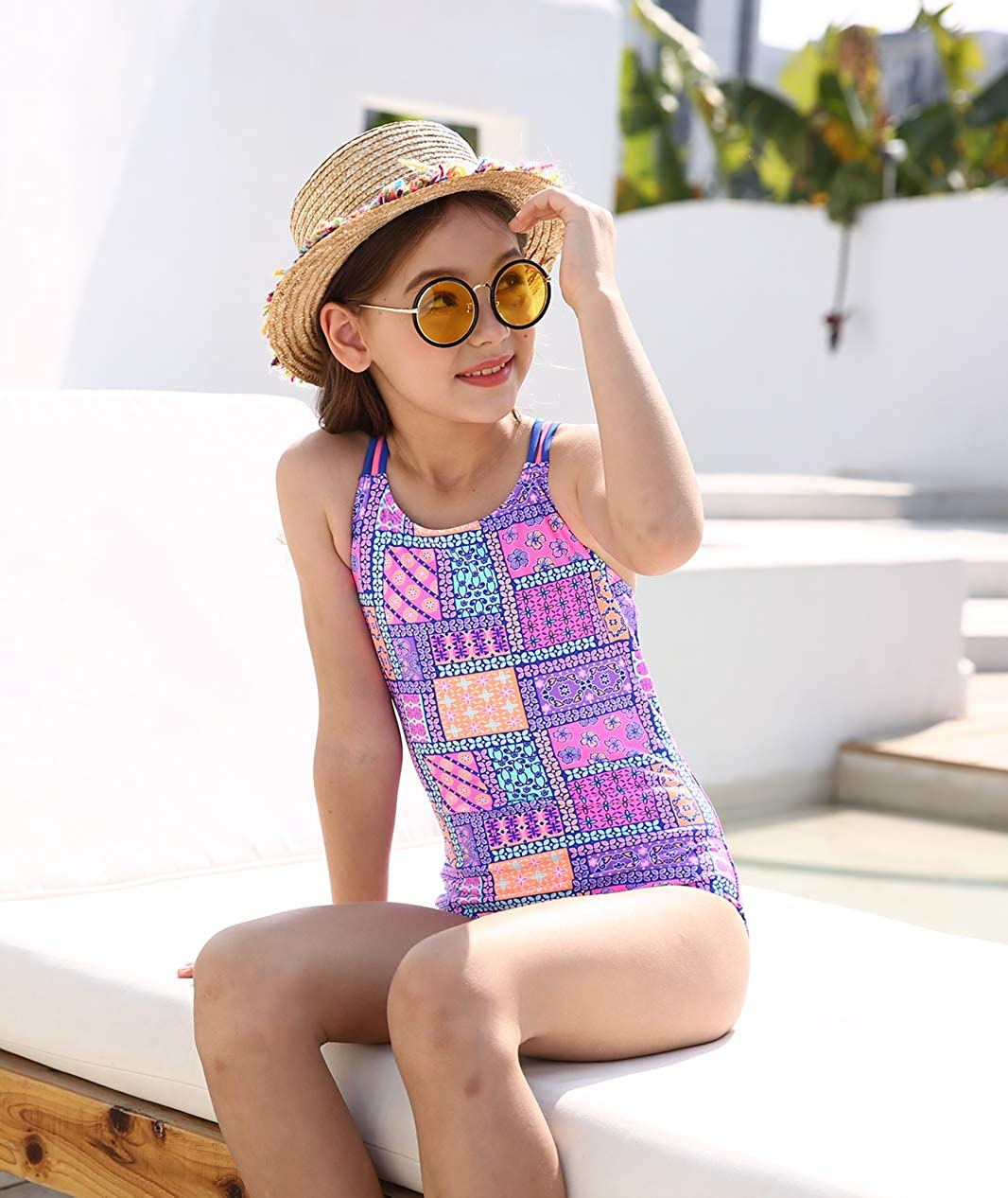 4-16 Years BELLOO Girls Race Back One Piece Swimsuits